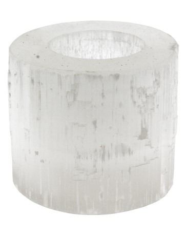 Seleniet cilinder theelichthouder - 6 cm hoog